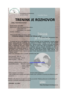 TRENINK JE ROZHOVOR - kynologove