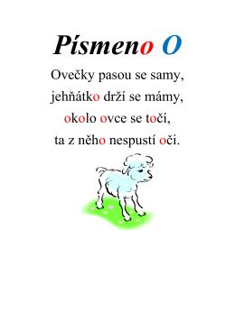 Ovečky pasou se samy, jehňátko drží se mámy, okolo ovce se točí