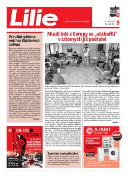 """Mladí lidé z Evropy se """"utábořili"""" v Litomyšli již podruhé"""