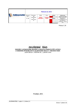 Zkušební řád OZO - Vzdělávací institut, spol. s ro, Prostějov