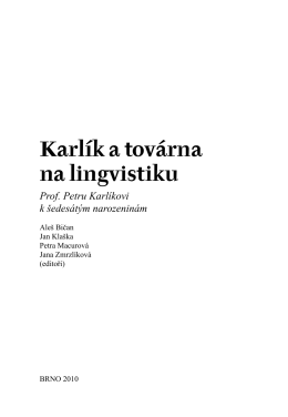 Karlík a továrna na lingvistiku.indd - Bohemicum Regensburg