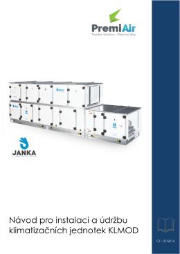 Návod pro instalaci a údržbu klimatizačních jednotek KLMOD
