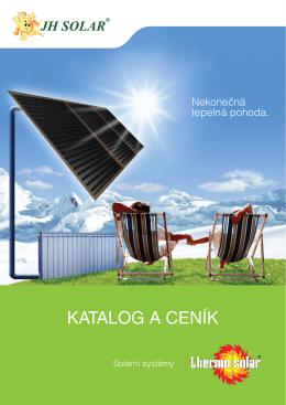 Katalog a ceník produktů JH Solar. Ke stažení zde.