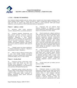 nákupní podmínky skupiny adm ve znění platném k 1. červenci 2014