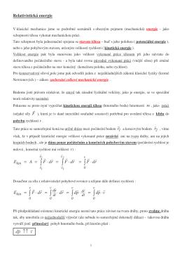 Energie v teorii relativity