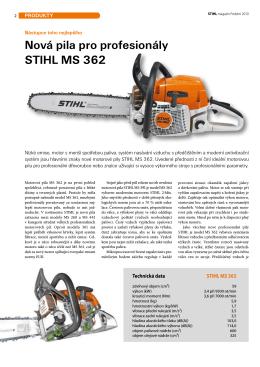 Nová pila pro profesionály STIHL MS 362