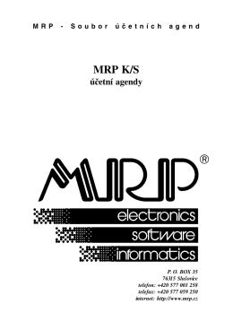 Účetní agendy - MRP