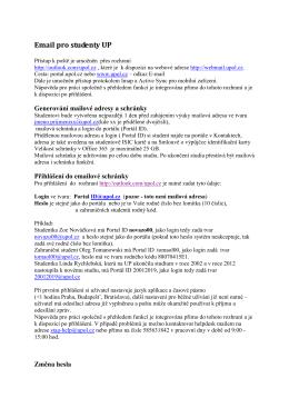 Podrobný návod na použití e-mailu pro studenty