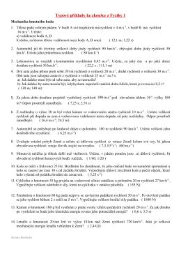 Fyzika I - Příklady
