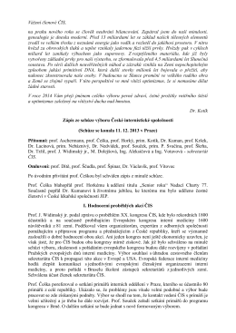 Zápis ze dne 11. 12. 2013, Praha