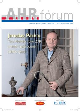 Jaroslav Pácha: - Asociace hotelů a restaurací ČR