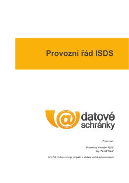 Provozní řád ISDS
