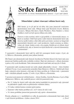 Volby do farní rady - Římskokatolická farnost Lysá nad Labem