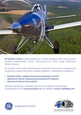 GE Aviation Czech je jediná společnost v České republice, která