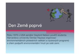 (Microsoft PowerPoint - Prezentace Den Země)