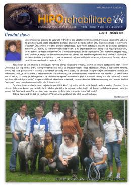 Úvodní slovo - Česká hiporehabilitační společnost