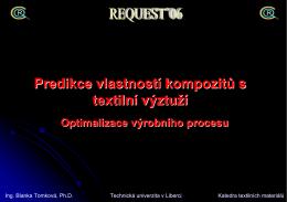 Predikce vlastností kompozitů s textilní výztuží