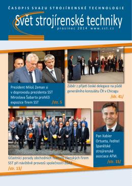 Svět strojírenské techniky číslo 3/2014 (PDF, 8.28 MB)