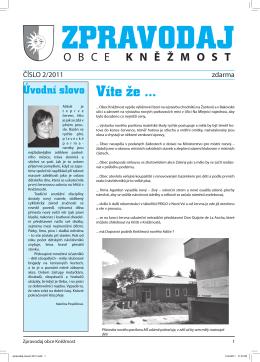 Zpravodaj obce číslo 2/2011
