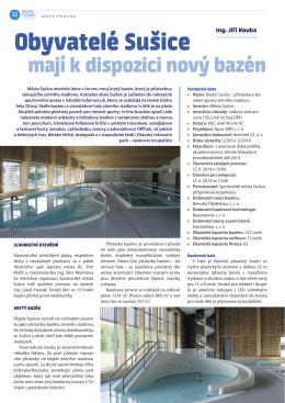 Obyvatelé Sušice mají k dispozici nový bazén