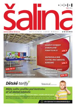 Šalina - říjen 2014 Měsíčník Šalina 20 stran A4 29.9.2014
