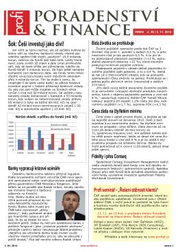 Newsletter Poradenství a Finance 2014/39 z 5.11.2014