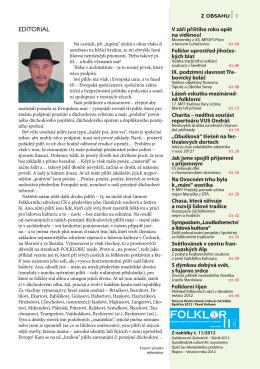 FOLKL R - Časopis Folklor