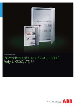 Rozvodnice pro 12 až 240 modulů řady UK500, AT, U