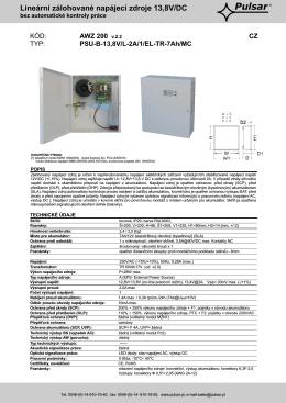 AWZ-200 - Zálohovací zdroj