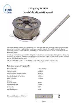 LED pásky AC230V Instalační a uživatelský manuál