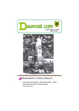 Dalovické listy č. 06/2013