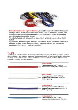 Protectowire Lineární teplotní detektor je vyráběn v různých