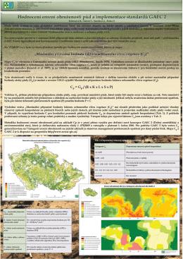 Hodnocení erozní ohroženosti půd a implementace standardů GAEC 2