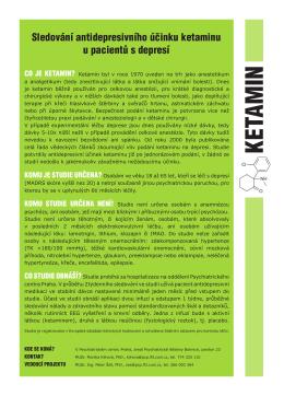 KETAMIN - Psychiatrické centrum Praha