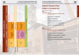 odborný program sjezdu středa 19. listopadu 2014