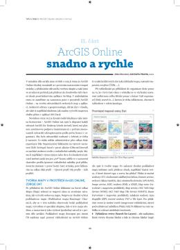 ArcGIS Online snadno a rychle, 2. část