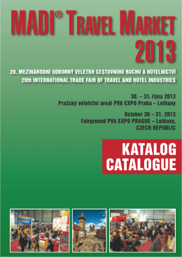 KATALOG CATALOGUE - MADI Travel Market