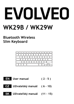 WK29B / WK29W Bluetooth Wireless Slim Keyboard