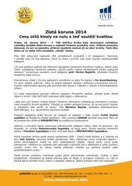 Zlatá koruna 2014 - OVB Allfinanz, as ČR