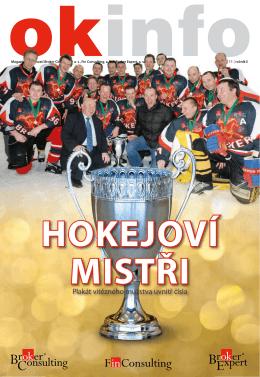 Plakát vítězného mužstva uvnitř čísla