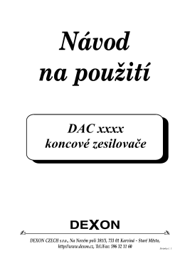 DAC xxxx koncové zesilovače