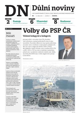 Důlní noviny ročník XVI číslo 19