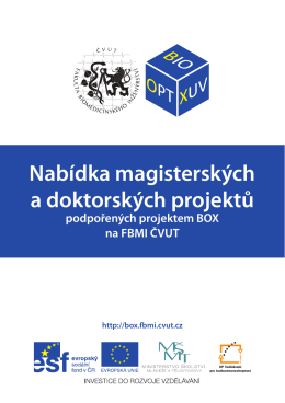 témata v rámci projektu BOX - FBMI