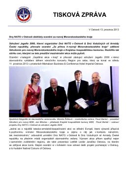 Dny NATO v Ostravě obdržely ocenění za rozvoj