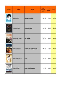 Seznam e-knih