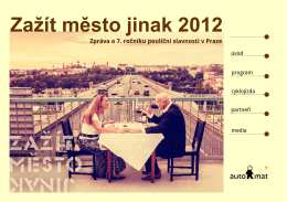 Zažít město jinak 2012