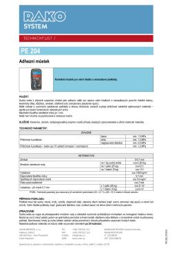 Kontaktní můstek PE 204 (pdf, 240 kB)
