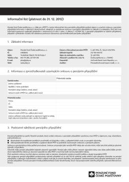 Informační list PS ČP