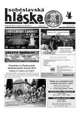 Duben 2014 - Město Soběslav