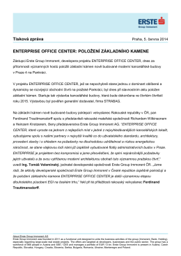 Tisková zpráva ENTERPRISE OFFICE CENTER: POLOŽENÍ